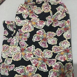 Lularoe leggings EUC flower print OS